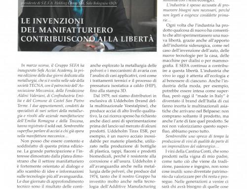 LE INVENZIONI DEL MANIFATTURIERO CONTRIBUISCONO ALLA LIBERTA' di Bruno Conti