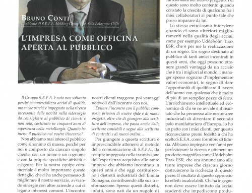 L'IMPRESA COME OFFICINA APERTA AL PUBBLICO